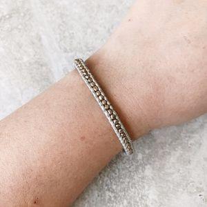 Chan Luu White Leather Single Bracelet